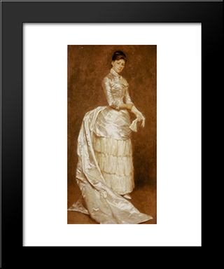 Charlotte Dufaux, In Her Wedding Dress: Modern Black Framed Art Print by Emile Claus