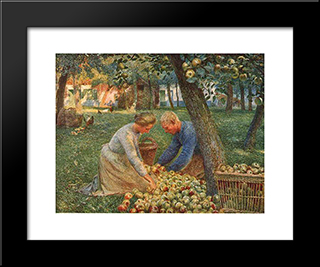 Orchard In Flanders: Modern Black Framed Art Print by Emile Claus