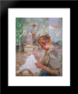 Sunny Day: Modern Black Framed Art Print by Emile Claus