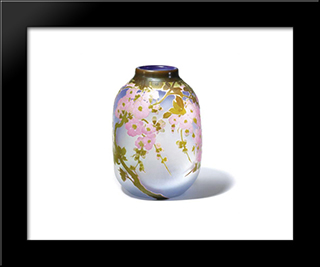 Apple Blossom Vase: Modern Black Framed Art Print by Emile Galle