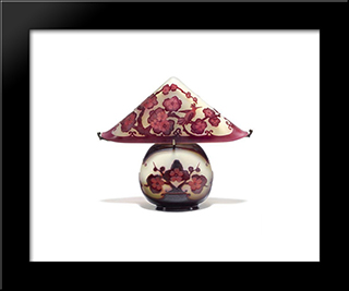 Pagoda Lamp: Modern Black Framed Art Print by Emile Galle