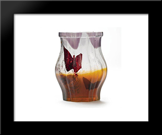 Papillon Verre Parlant Vase: Modern Black Framed Art Print by Emile Galle