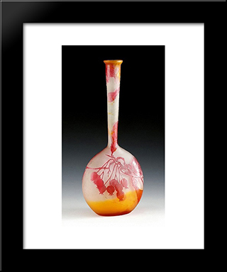 Vase Mit Fruchtedekor, Nancy, Frankreich: Modern Black Framed Art Print by Emile Galle
