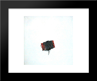Forma Legata: Modern Black Framed Art Print by Emilio Scanavino