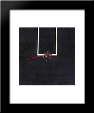 La Finestra: Modern Black Framed Art Print by Emilio Scanavino