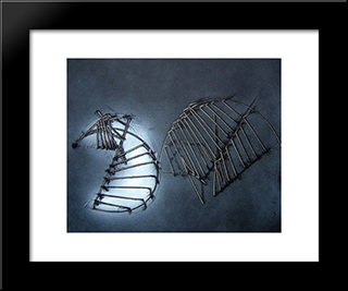 Le 2 Meta: Modern Black Framed Art Print by Emilio Scanavino