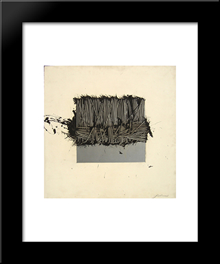 Protetto A Meta: Modern Black Framed Art Print by Emilio Scanavino