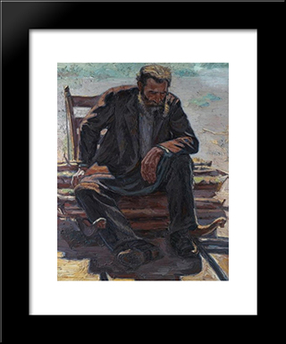 A Moment'S Rest: Modern Black Framed Art Print by Emmanuel Zairis