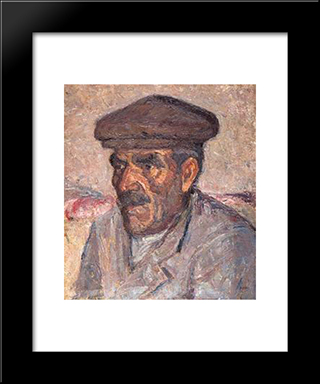 Fisherman: Modern Black Framed Art Print by Emmanuel Zairis