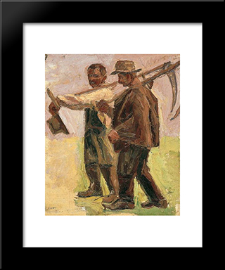 Mowers: Modern Black Framed Art Print by Emmanuel Zairis