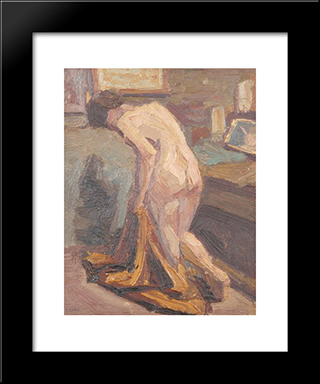 Nude Model: Modern Black Framed Art Print by Emmanuel Zairis