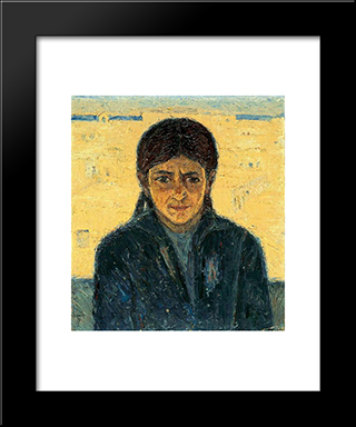 Portrait Of Iakoveena: Modern Black Framed Art Print by Emmanuel Zairis