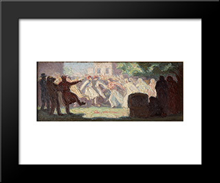 The Carnival In Athens: Modern Black Framed Art Print by Emmanuel Zairis
