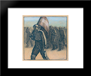 The Demonstration: Modern Black Framed Art Print by Emmanuel Zairis