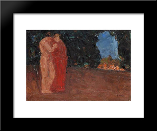 The Lovers: Modern Black Framed Art Print by Emmanuel Zairis