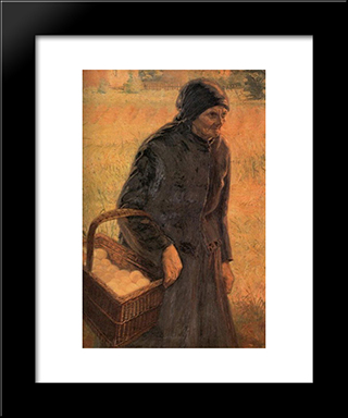 The Old Egg Seller: Modern Black Framed Art Print by Emmanuel Zairis