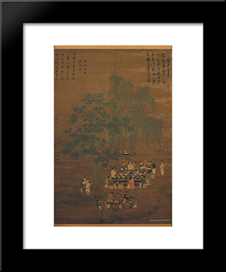 An Elegant Party: Modern Black Framed Art Print by Emperor Huizong