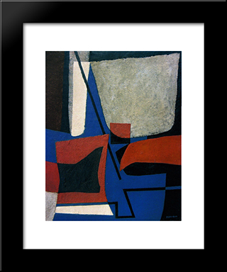 Abstract Composition: Modern Black Framed Art Print by Enrico Prampolini