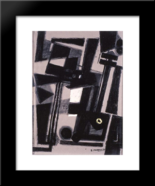 Composition: Modern Black Framed Art Print by Enrico Prampolini