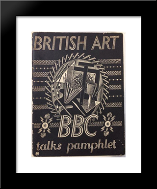 Bbc British Art Talks Pamphlet: Modern Black Framed Art Print by Eric Ravilious