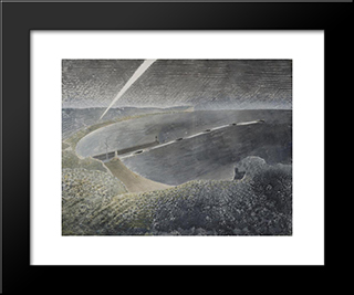 Coastal Defences: Modern Black Framed Art Print by Eric Ravilious