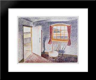 Interior At Furlongs: Modern Black Framed Art Print by Eric Ravilious