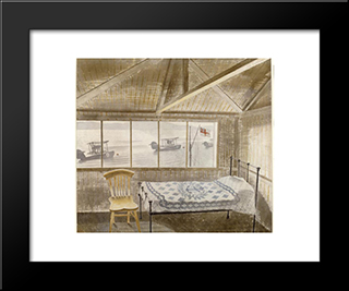 Rnas Sick Bay, Dundee: Modern Black Framed Art Print by Eric Ravilious