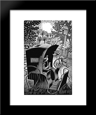 The H: Modern Black Framed Art Print by Eric Ravilious