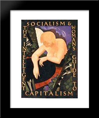 The Intelligent Woman'S Guide To Socialism And Capitalism (Cover): Modern Black Framed Art Print by Eric Ravilious