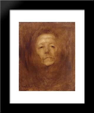Autoportrait Vers: Modern Black Framed Art Print by Eugene Carriere