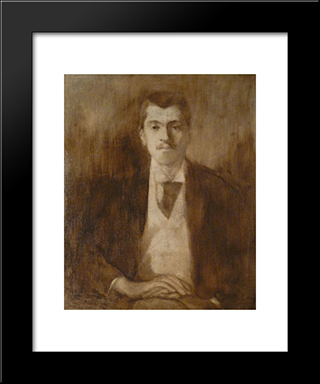 Pol Neveux: Modern Black Framed Art Print by Eugene Carriere