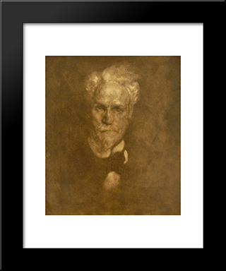 Portrait De Henri Rochefort: Modern Black Framed Art Print by Eugene Carriere