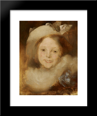 Portrait Of Lise Carriere: Modern Black Framed Art Print by Eugene Carriere