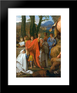 Hercules Fighting Cacus: Modern Black Framed Art Print by Eustache Le Sueur