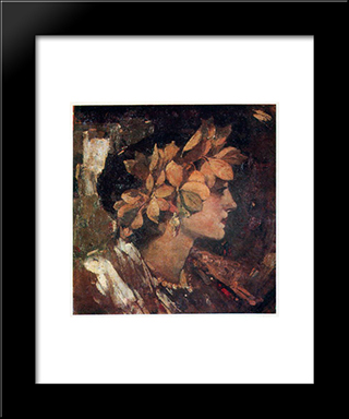 Beatrice: Modern Black Framed Art Print by Fedir Krychevsky