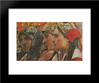 Three Ages: Modern Black Framed Art Print by Fedir Krychevsky