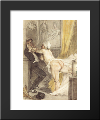 After Midnight (The Return To Love The Lack Of It): Modern Black Framed Art Print by Felicien Rops