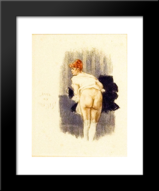 Appeal To The Masses: Modern Black Framed Art Print by Felicien Rops