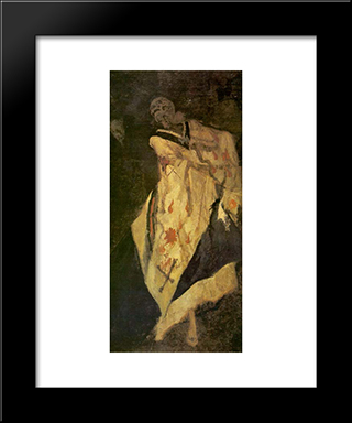 Death At The Ball: Modern Black Framed Art Print by Felicien Rops