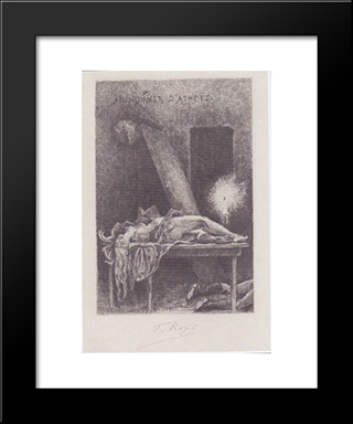 Dinner With Atheists: Modern Black Framed Art Print by Felicien Rops