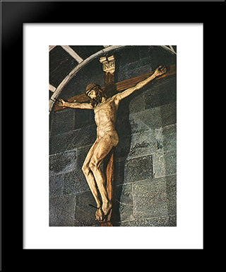 Crucifixion: Modern Black Framed Art Print by Filippo Brunelleschi
