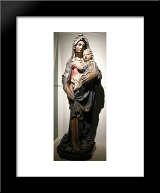 Madonna With Child: Modern Black Framed Art Print by Filippo Brunelleschi