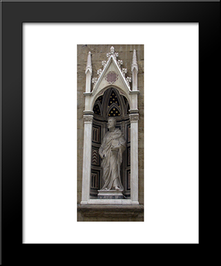 Saint Peter: Modern Black Framed Art Print by Filippo Brunelleschi