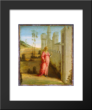 Esther At The Palace Gate: Modern Black Framed Art Print by Filippo Lippi