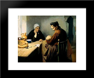 Motherhood: Modern Black Framed Art Print by Firmin Baes