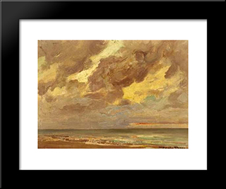 The Sea: Modern Black Framed Art Print by Firmin Baes