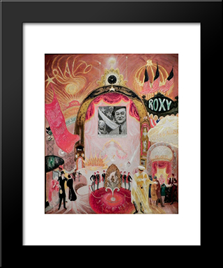 The Cathedrals Of Broadway: Modern Black Framed Art Print by Florine Stettheimer