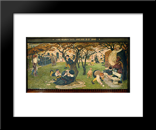 Chetham'S Life Dream: Modern Black Framed Art Print by Ford Madox Brown