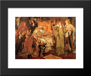Cordelia'S Portion: Modern Black Framed Art Print by Ford Madox Brown
