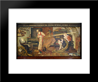 Crabtree Watching The Transit Of Venus In 1639: Modern Black Framed Art Print by Ford Madox Brown
